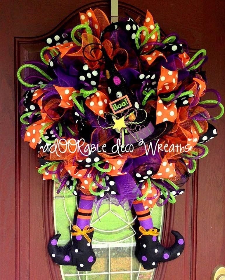 Wreath Created By Adoorable Deco Wreaths This Adoorable Halloween