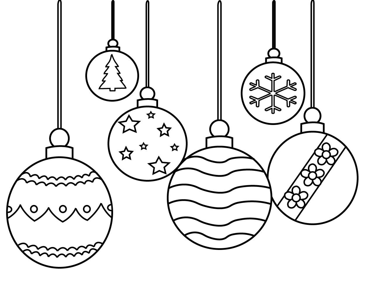 Christmas Ornament Coloring Pages Printable Christmas Is