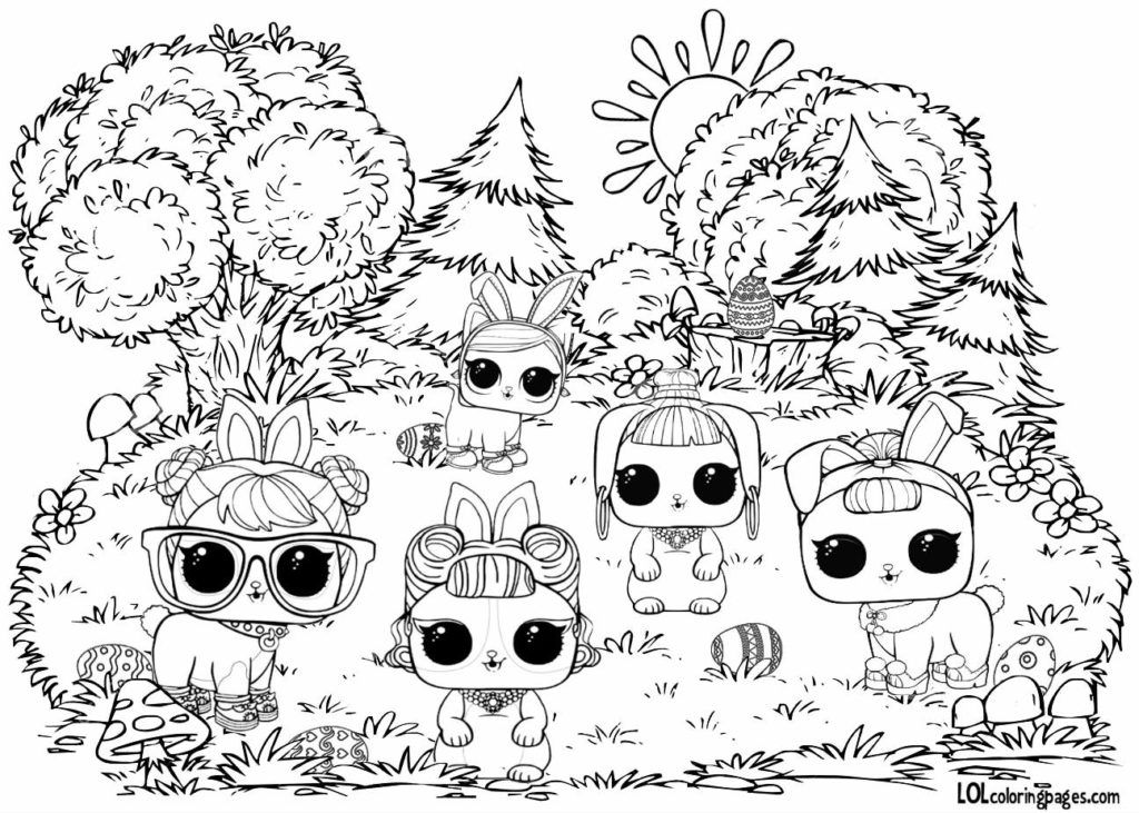 Hoppy Easter Lol Surprise Coloring Page Easter Coloring Pages Lol Dolls Coloring Pages