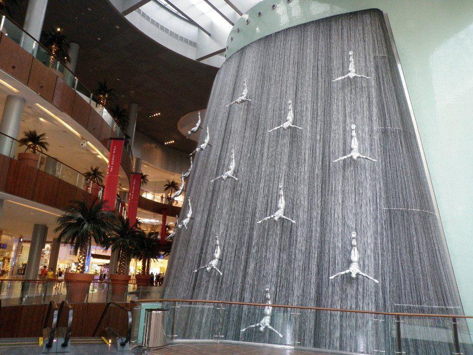 Dubai Mall Waterfall Dubai Mall Water Walls Architecture Project