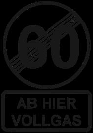 60 Geburtstagsshirt 60 Geburtstag Ab Hier Vollgas Geburtstag