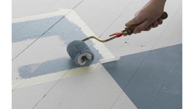 La peinture de sol pour salle de bains - peindre du carrelage de sol