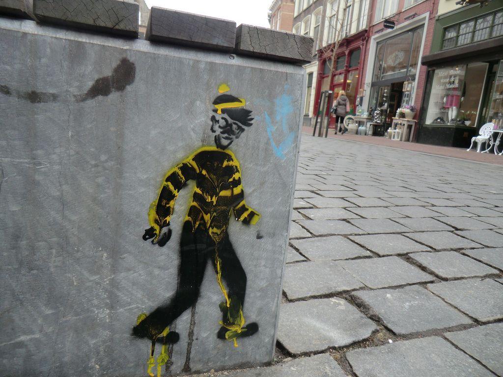 Wally nijmegen streetart.
