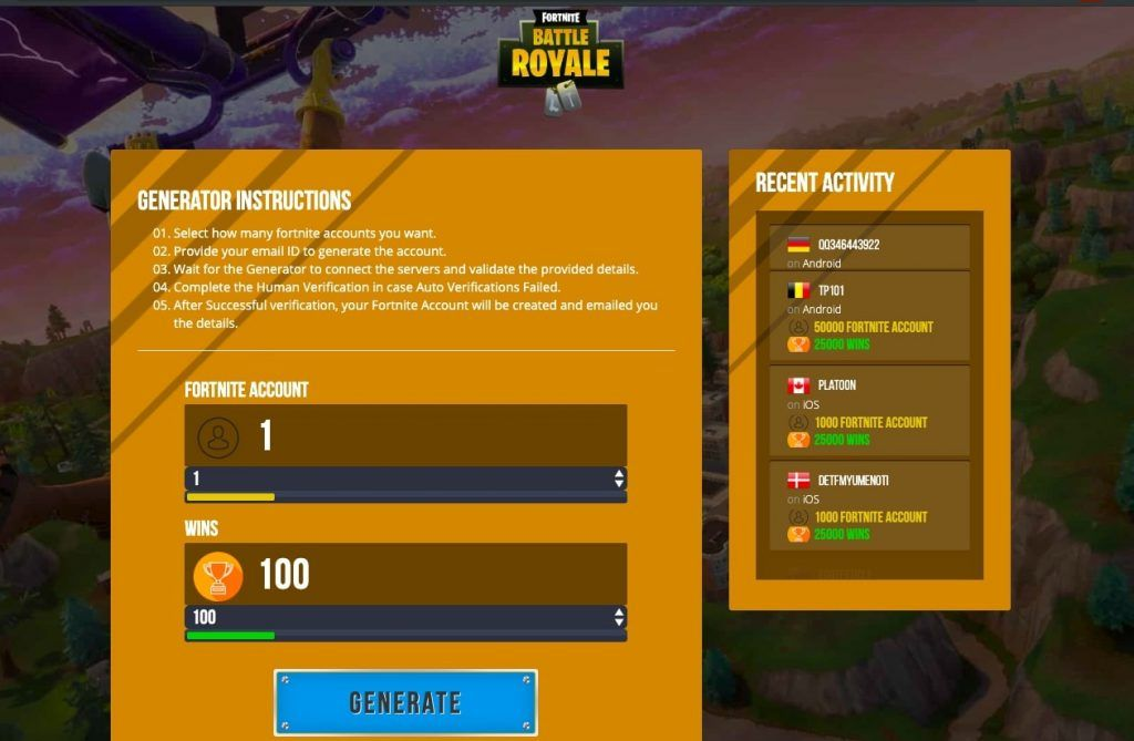 How To Use Free Fortnite Accounts Generator Access Our