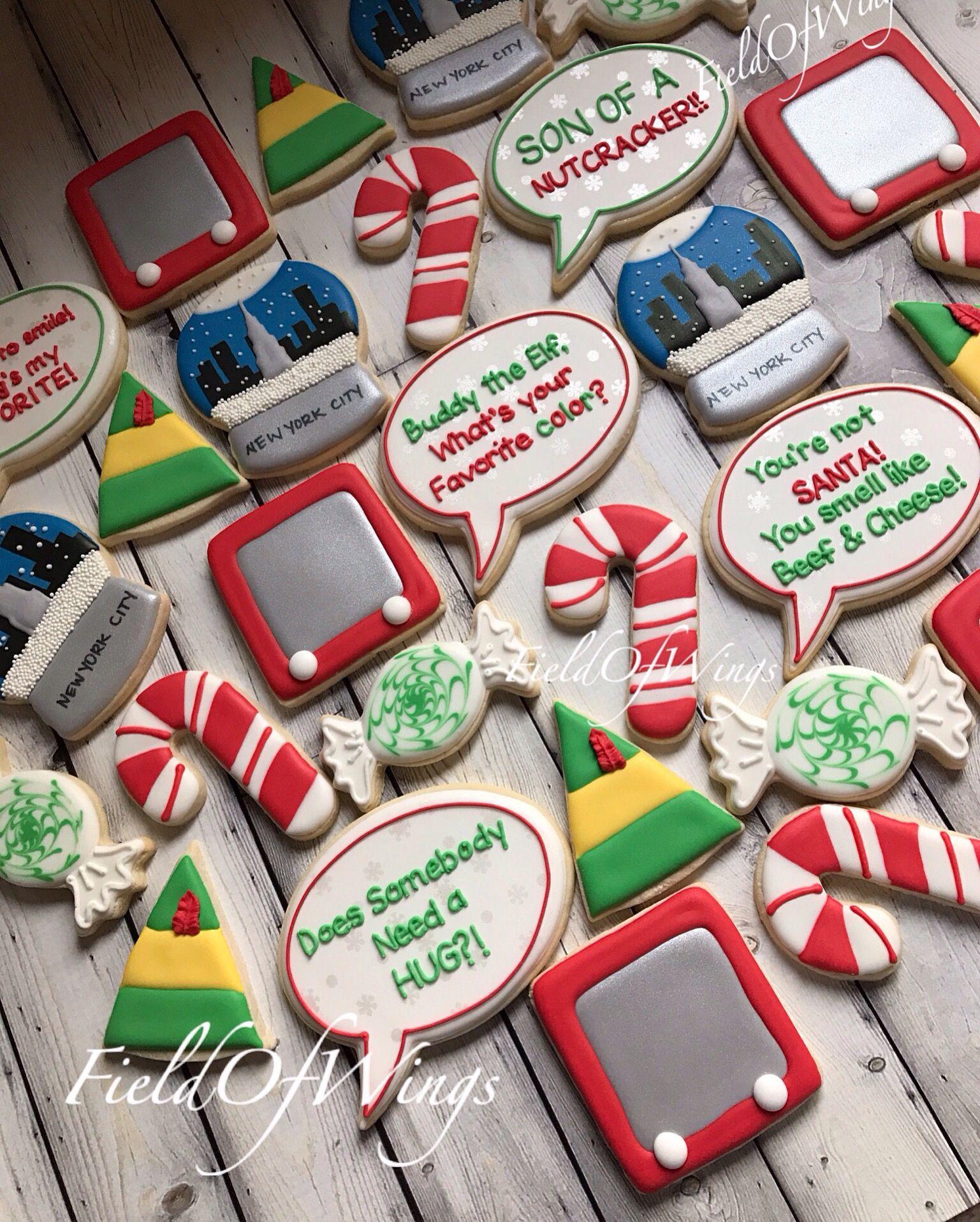 Elf Movie Decorated Christmas Sugar Cookies Fieldofwings Elf