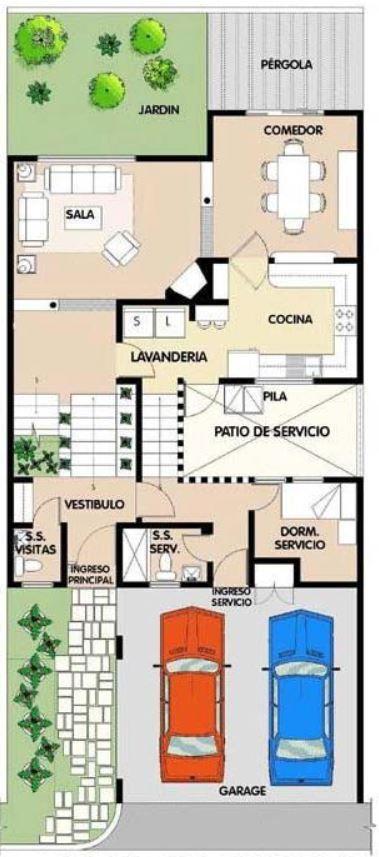 Plano de casa de 10x15 metros en 2 pisos house desings for Plano casa minimalista 3 dormitorios