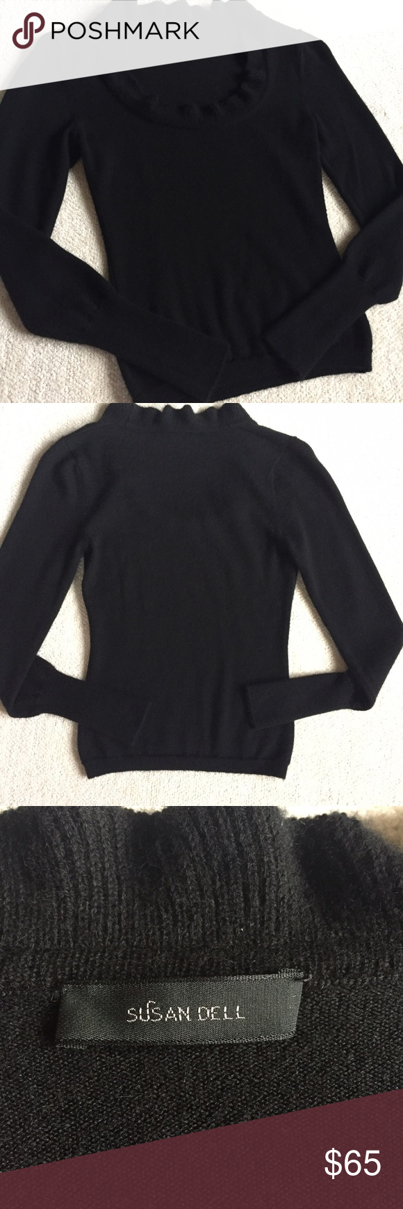 Black 100% Cashmere Sweater Susan Dell Cashmere Sweater Beautiful ...