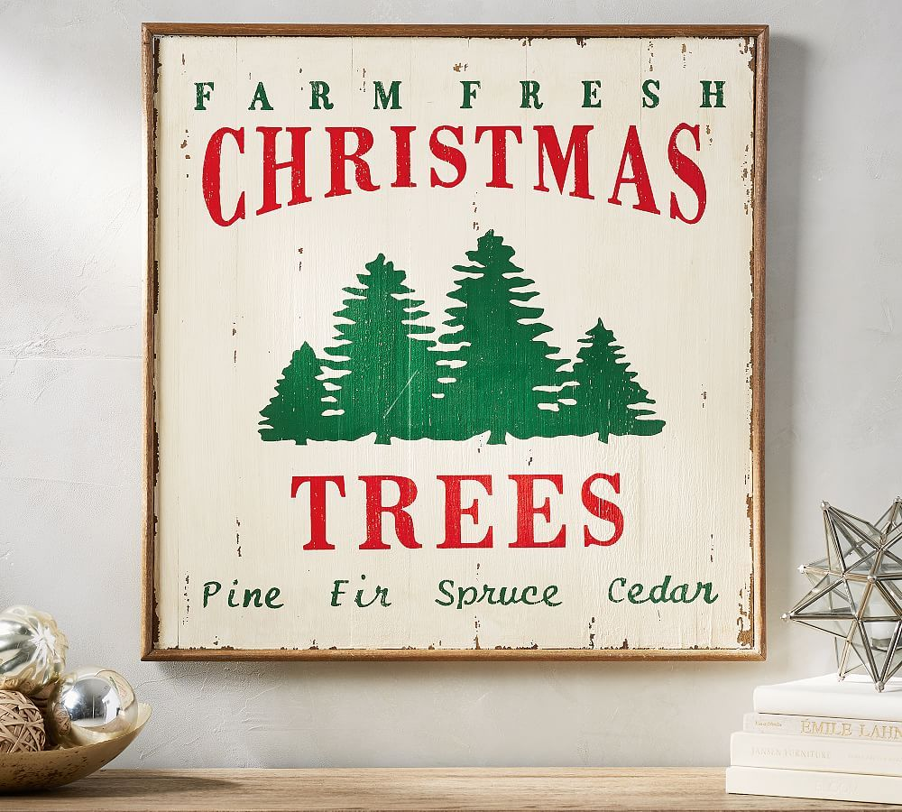 Farm Fresh Christmas Trees Art, 28x28