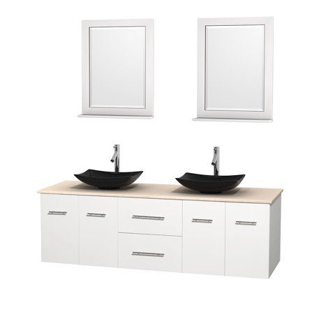 Wyndham Collection Centra 72 Inch Double Bathroom Vanity In Matte