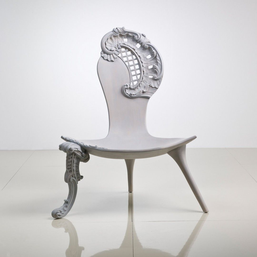 Rococo Chair, White Modern Style | Rococo chair, Rococo and Modern