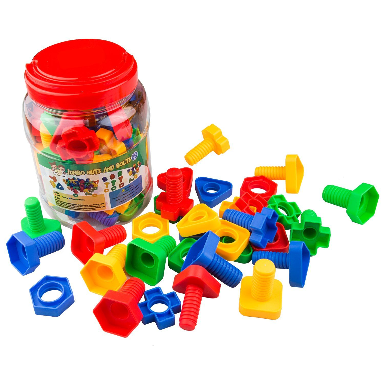 cbbbf4e03242 Jumbo Nuts   Bolts 32 pcs Sets - Stem Toys for Boys   Girls - Educational
