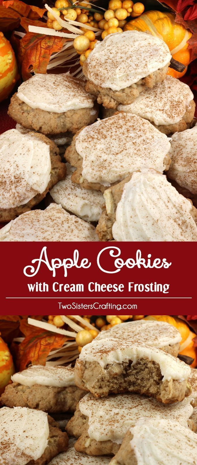 Apple biscuits and cream cheese frosting Apples and cinnamon come together in ... Apple biscuits an