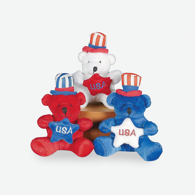 Patriotic Stuffed Bears Novelty toys, Plush, Patriotic