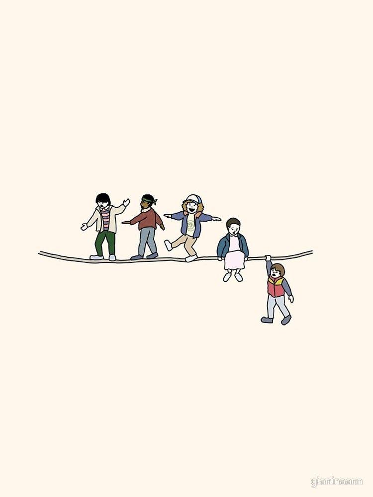 Funda y vinilo para iPhone ''Stranger Things: The Acrobats and the Fleas' de gianinaann