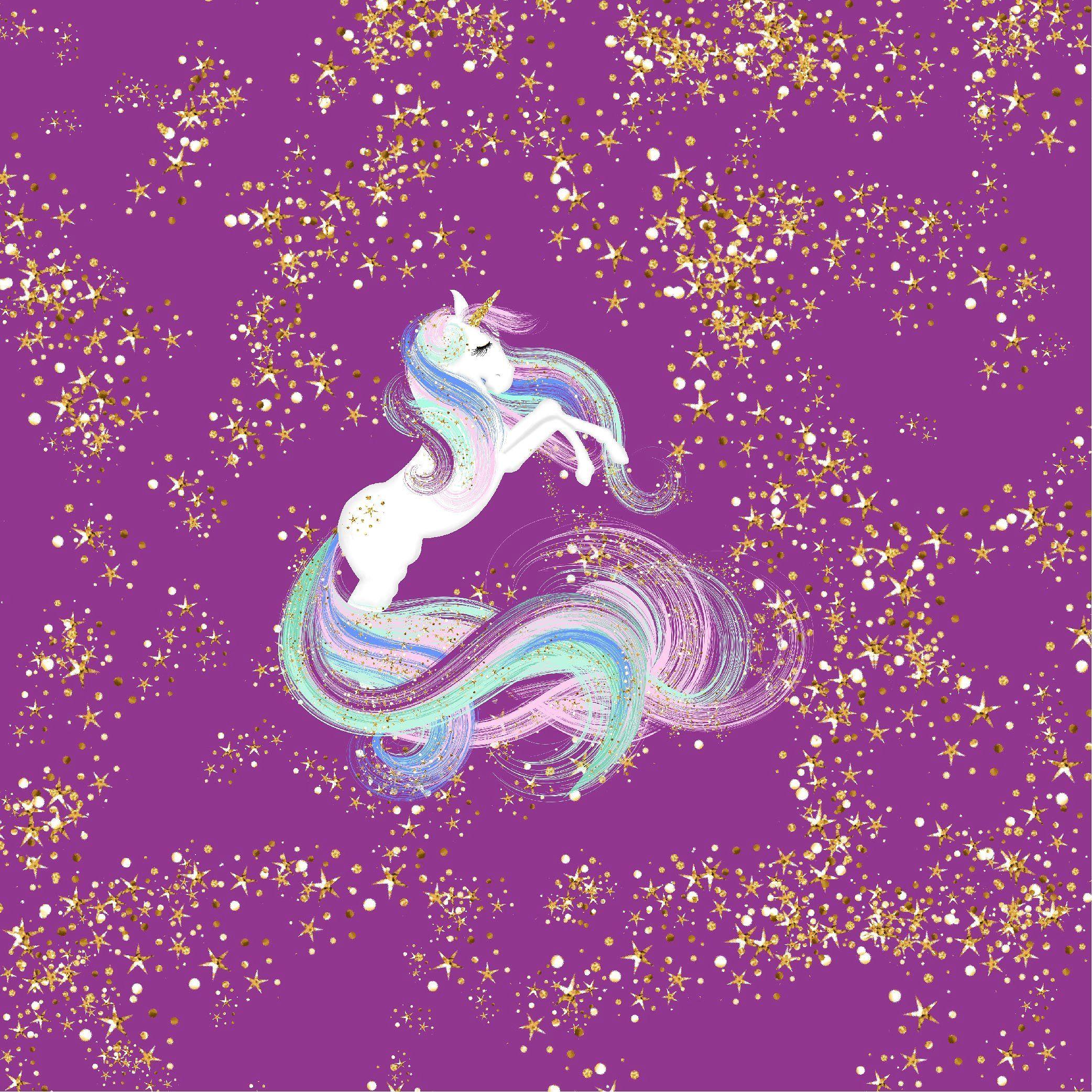 Gold Glitter Unicorn Digital Paper Unicorn Wallpaper Unicorn Art Unicorn Pictures