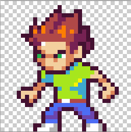 how to make pixel character move set