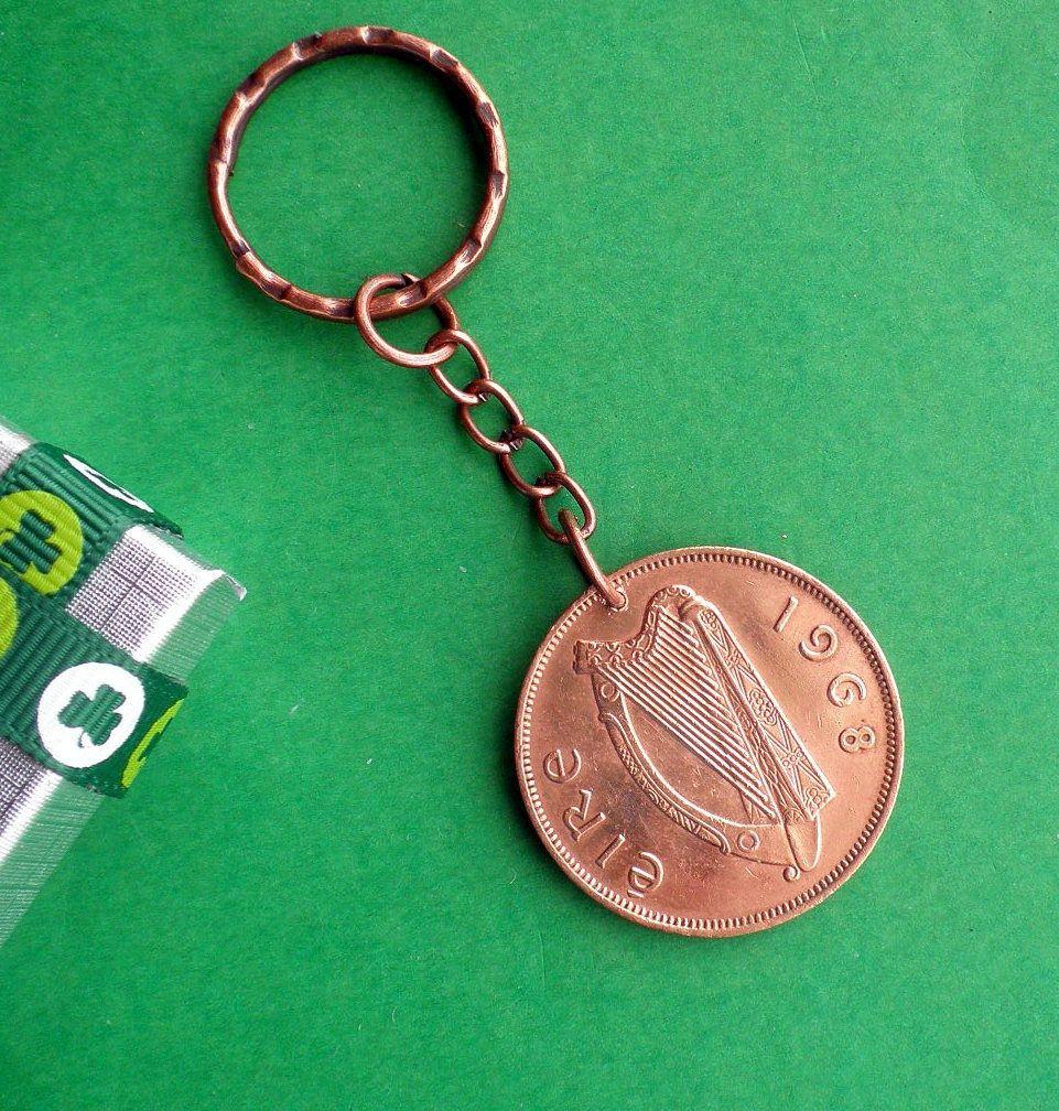 51st Birthday Gift from Ireland, 1968 Irish coin Keyring
