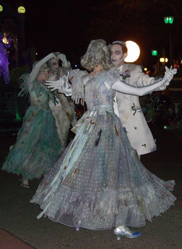 Haunted Mansion ballroom dancers in the Disney Boo To You ...