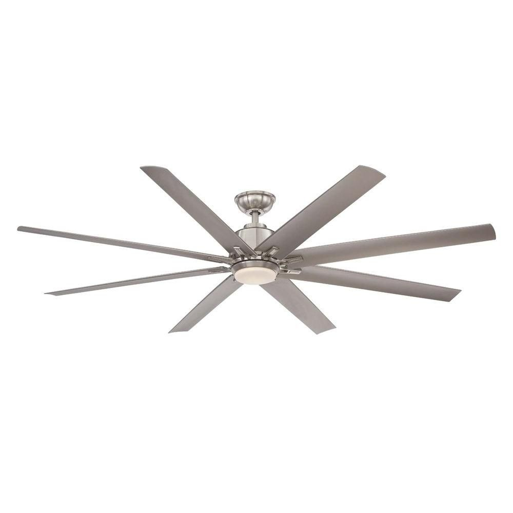 Home Decorators Collection Kensgrove 72 In Brushed Nickel LED Ceiling Fan