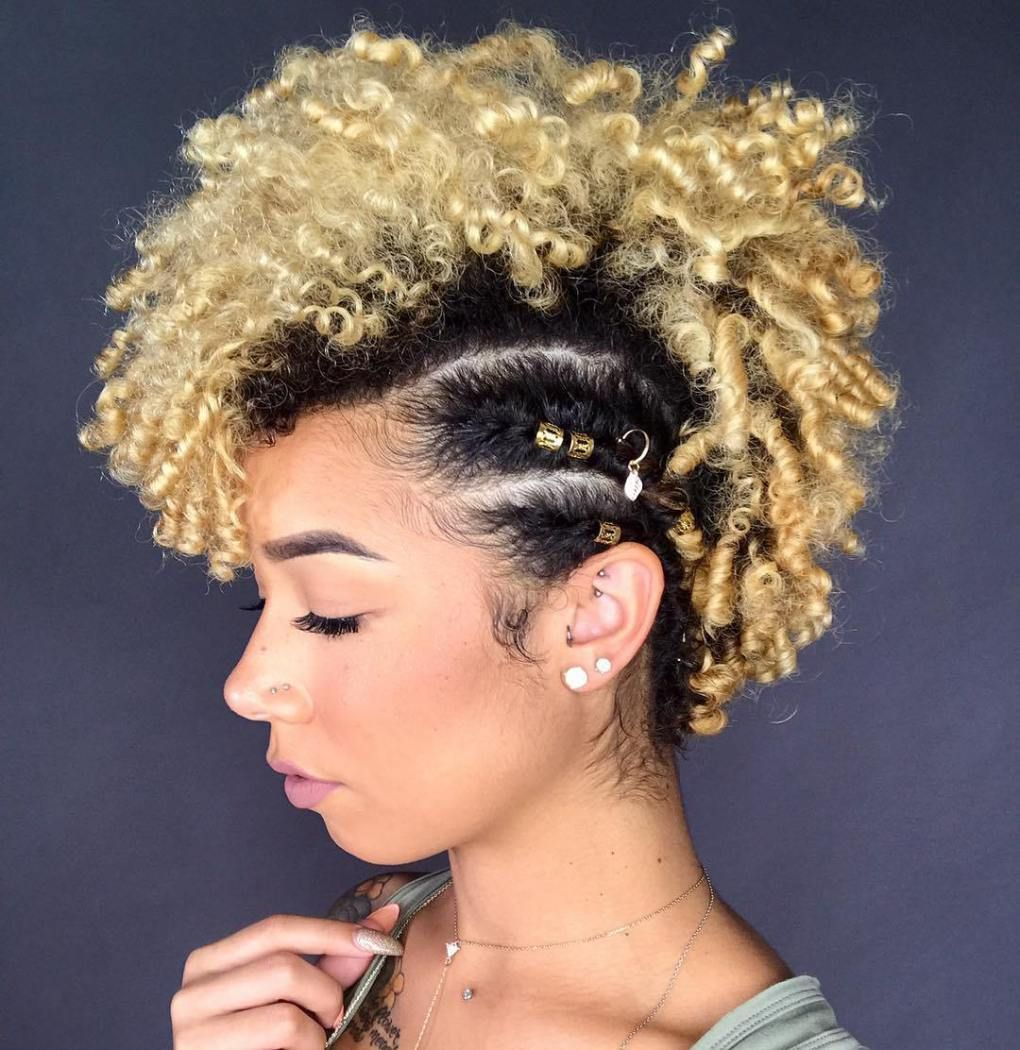 most inspiring natural hairstyles for short hair curly mohawk