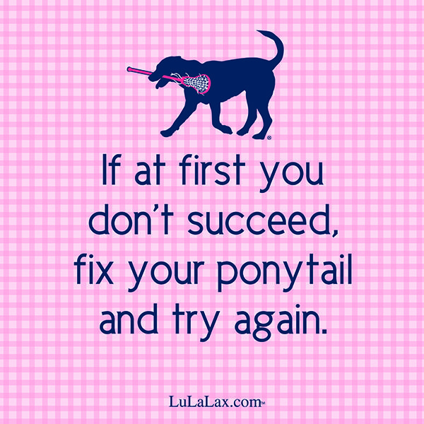 Sportcitaten : Lulalax knows you can succeed — ponytail or not