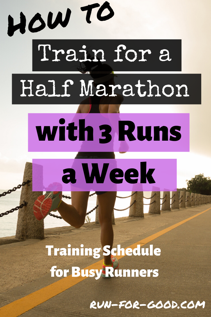 It's possible to try for a half marathon with just three runs a week. Try this 3 day a week half marathon training to get race ready in 12 weeks.   #halfmarathons  #halfmarathontraining