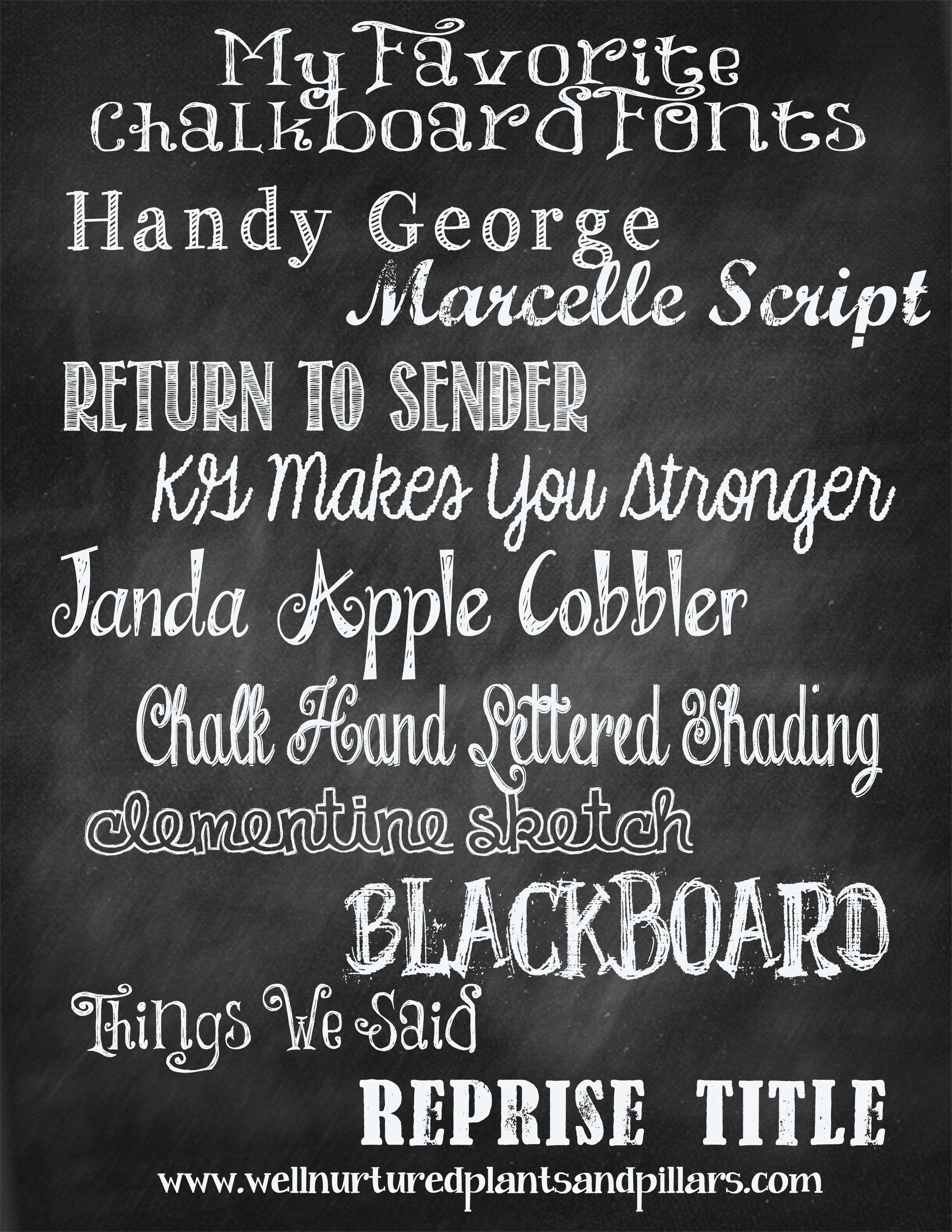font chalkboard