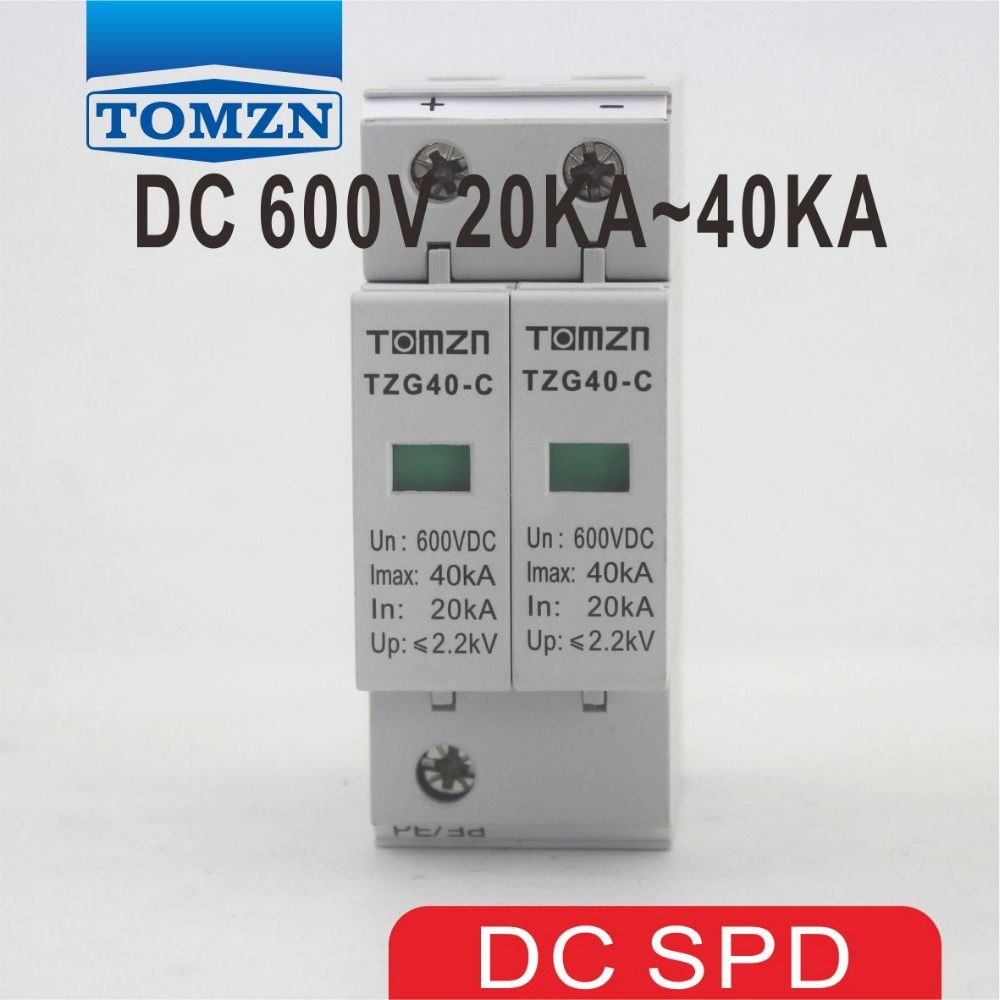 Spd Dc 600v 20ka 40ka House Surge Protector Protective Low Voltage Arrester Device Cool Things To Buy Cooking Timer Electrical Equipment