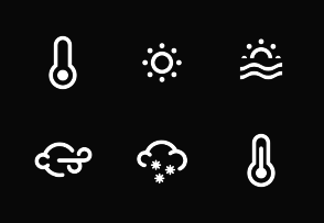 Weather Icons By Luis Rodrigues In 2020 Weather Icons Weather Icon