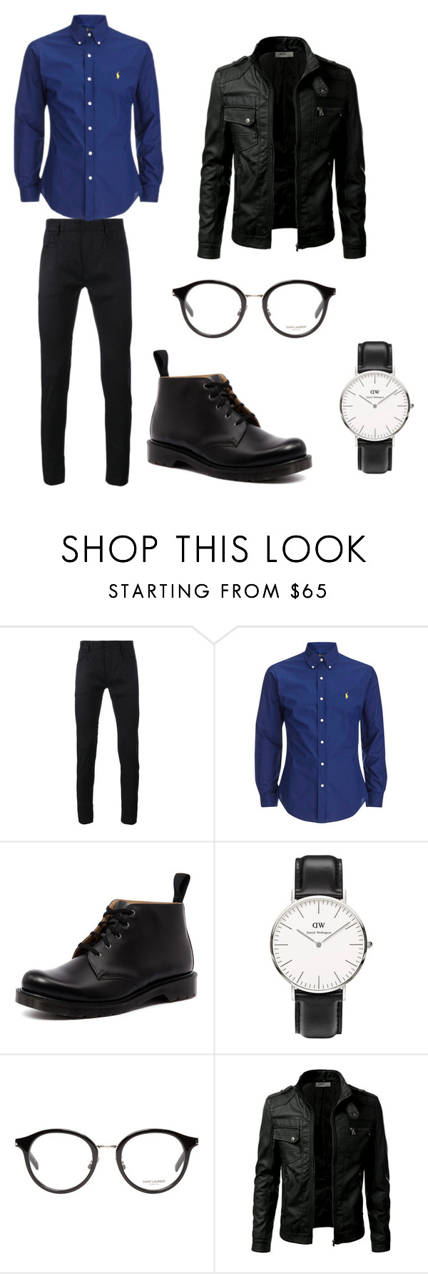 """Outfit.6.- Man"" by bea-palaio ❤ liked on Polyvore featuring Haider Ackermann, Dr. Martens, Daniel Wellington, Yves Saint Laurent, men's fashion and menswear"