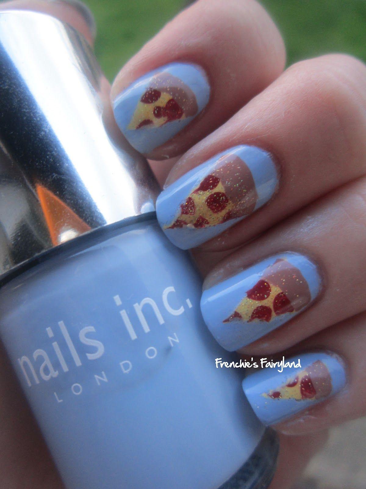 Pizza Nails Food Nail Art Nails Nail Art Tutorial