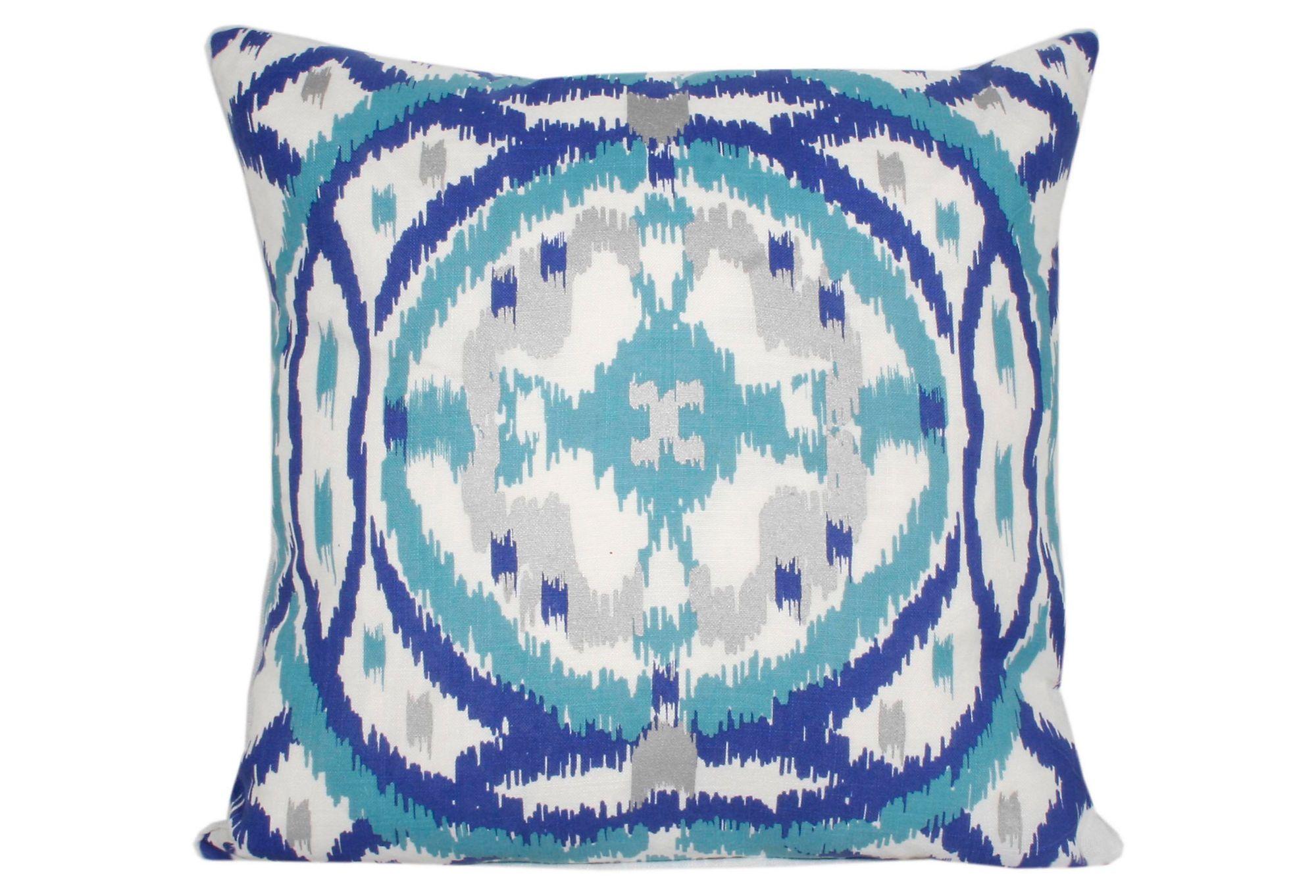 One Kings Lane - Thro - Denzel 20x20 Pillow, Blue