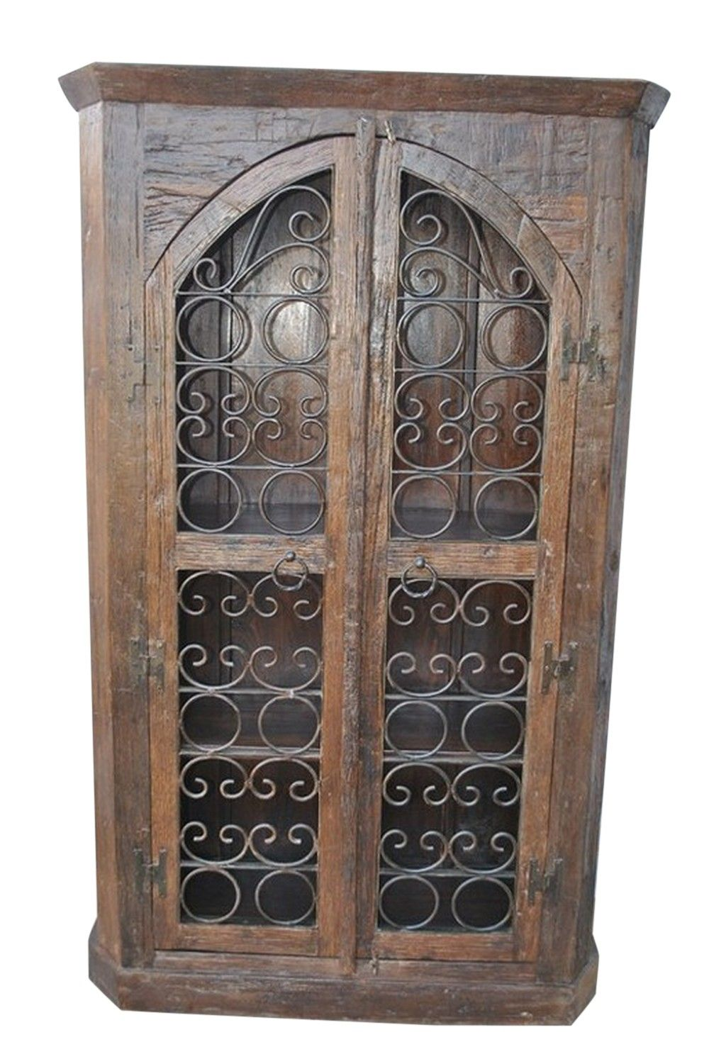Tuscan Style Curio Cabinet Interior Furniture Mexican Accessories