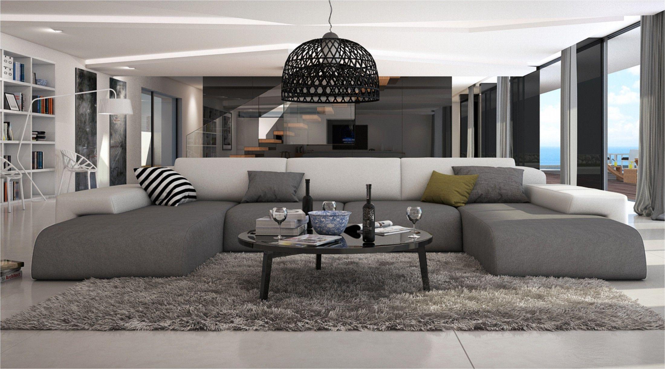 Ce Grand Canape D Angle En U Conferera A Votre Salon Moderne Un Look Irresistible Grace A Ses Lignes Elegantes Et Orig Salon Moderne Deco Salon Idee Deco Salon