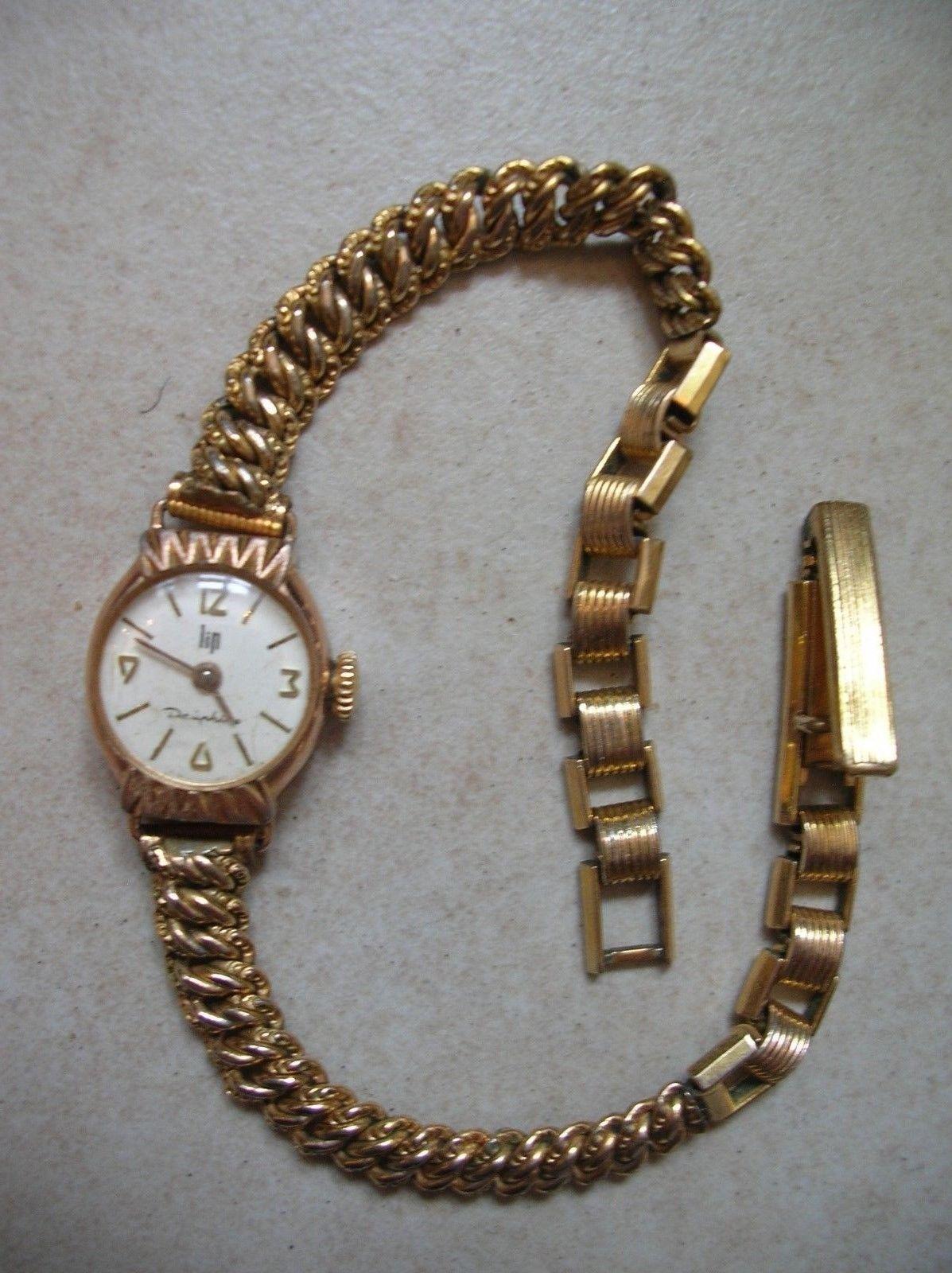 Ancienne Lip Murat Dauphine Montre Fonctionne Mécanique Bracelet 0w8kOPn