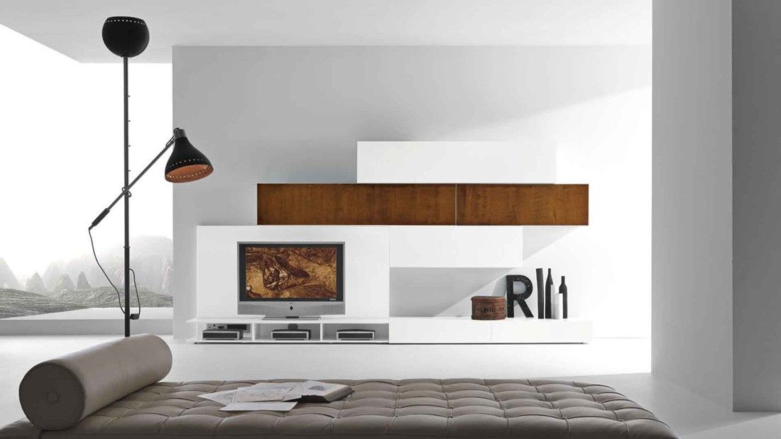 Modern TV Wall Unit Comp. 227 Metal by Presotto, Italy from ModulART ...