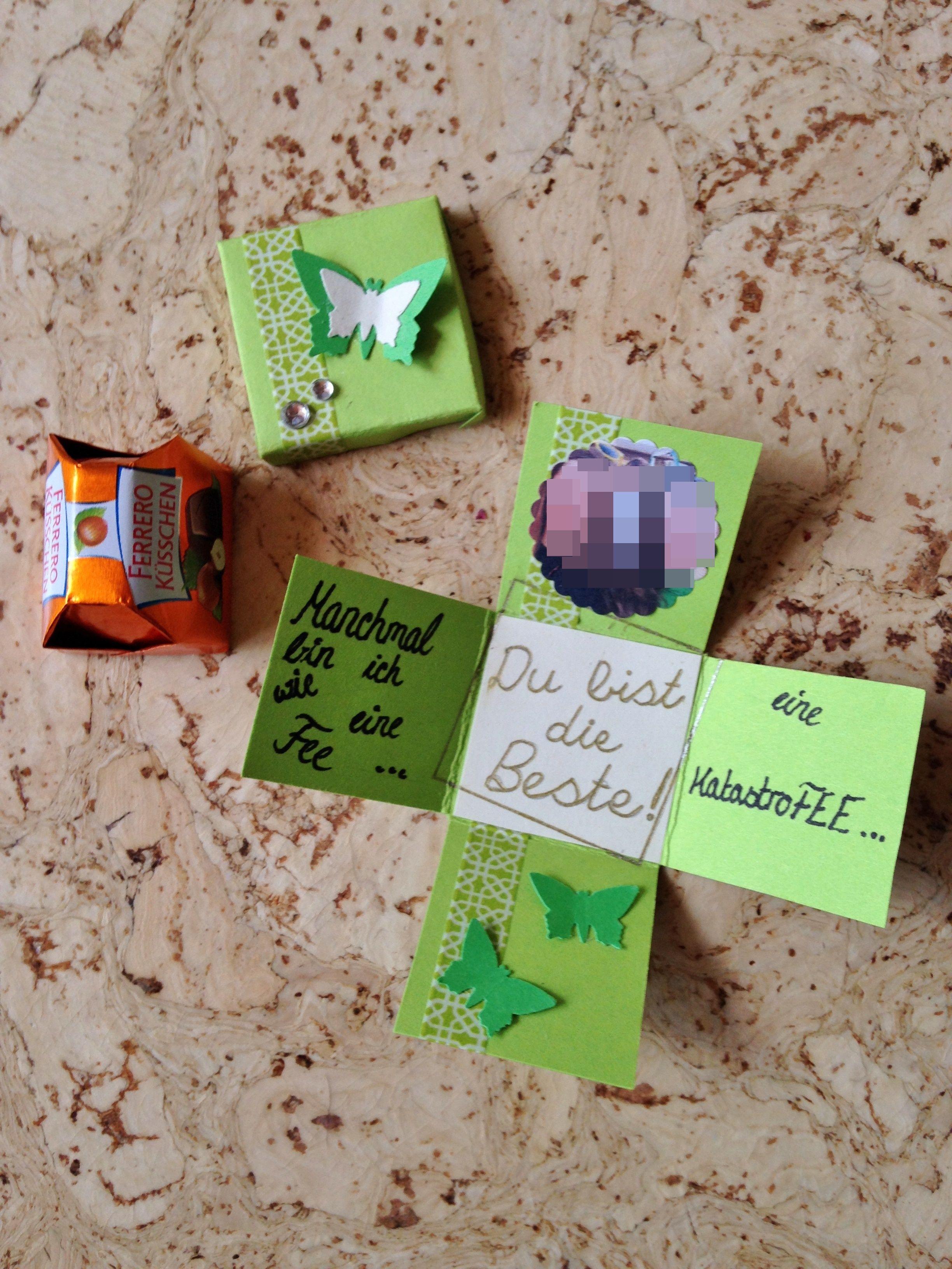 Kleine Entschuldigung; Schokolade; Ferrero Küsschen; Karte