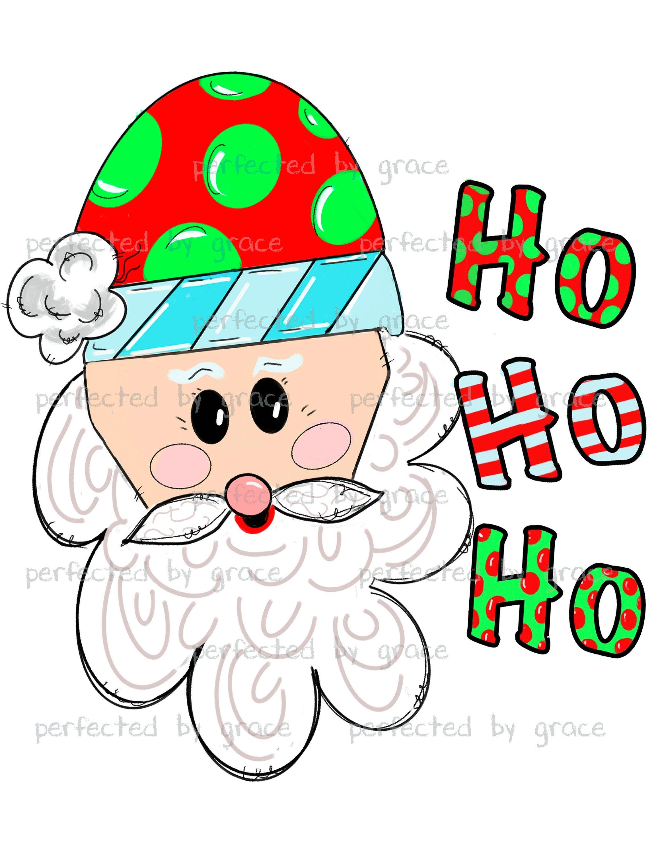 Santa Claus Ho Ho Ho Christmas Clip Art Great For Tshirts Etsy In 2021 Christmas Cards Handmade Kids Christmas Clipart Ho Ho Ho Christmas