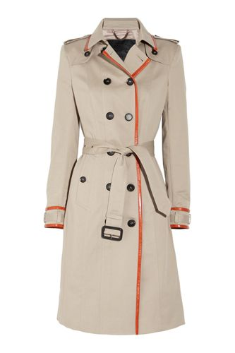 Burberry Prorsum Leather Trimmed Cotton Gabardine Trench Coat, $3,195, available at Net-a-Porter.