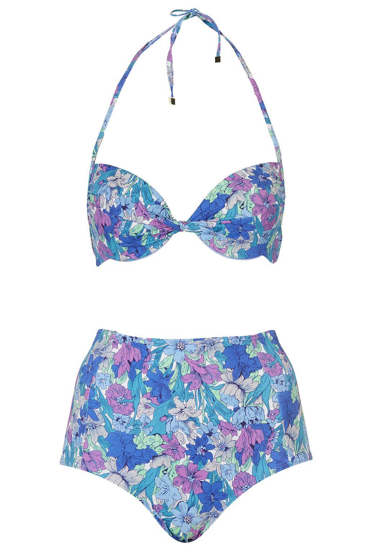 Clothing Bikini Waisted Sets Floral High Swimwear CQBedoWrEx