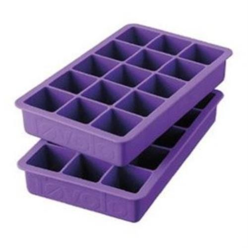 Tovolo-2-Set-Purple-Silicone-Perfect-Cube-Ice-Tray-Mold-Home-Kitchen-Dining-Bar