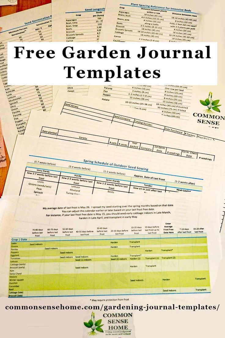 Free gardening journal templates and other garden record keeping free gardening journal templates including seed sowing schedule plant spacing and seed longevity charts seed purchase log and planting and germination maxwellsz