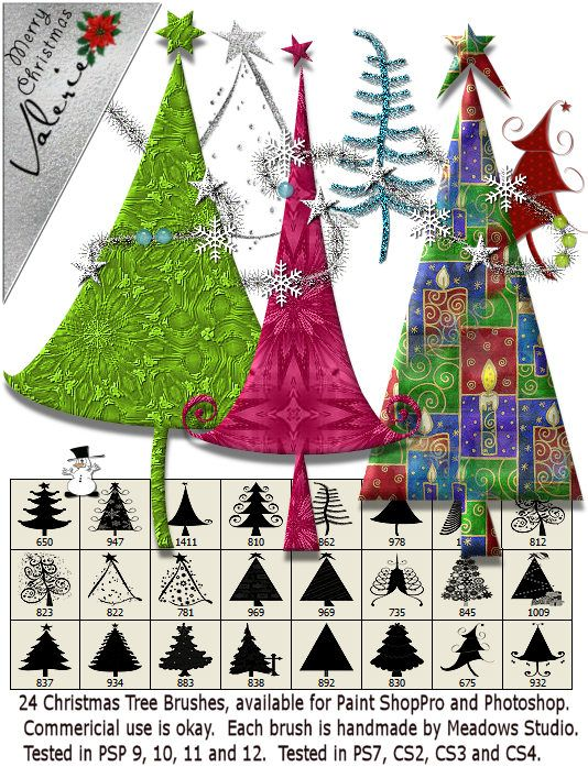 Meadows Frosted Flake Christmas Tree Brushes Now Free Christmas Tree Christmas All Things Christmas