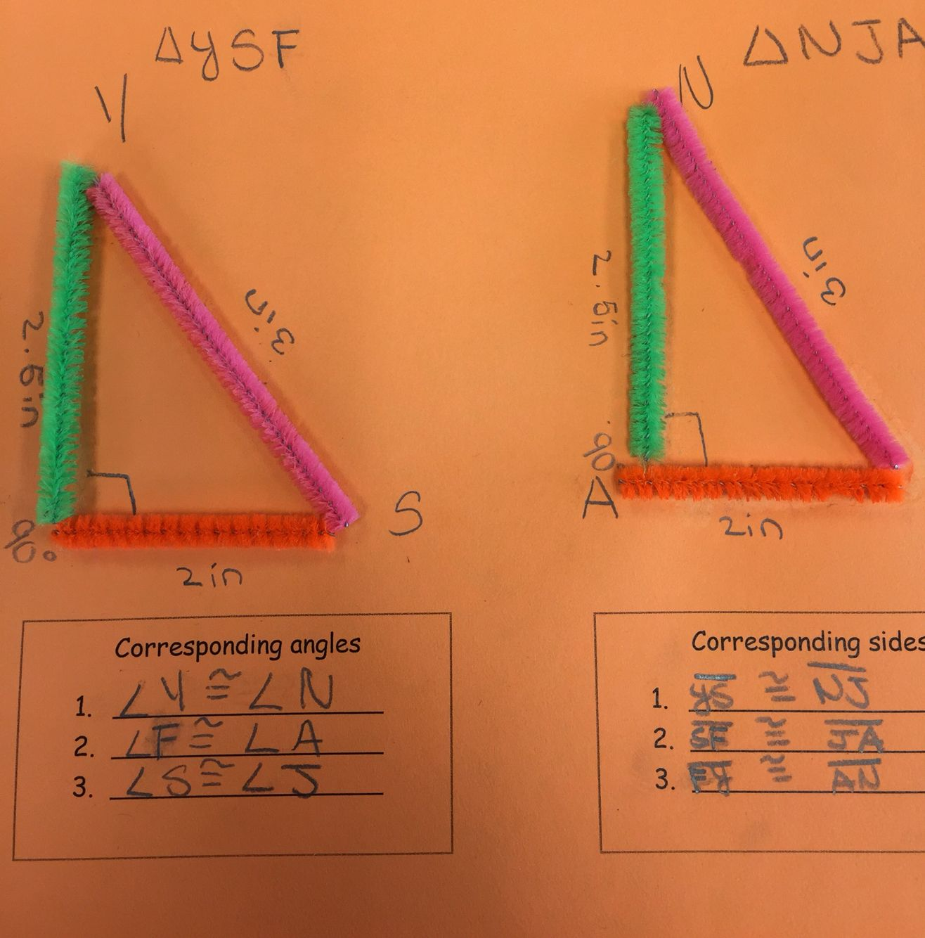 Corresponding Parts of Congruent Triangles Math projects
