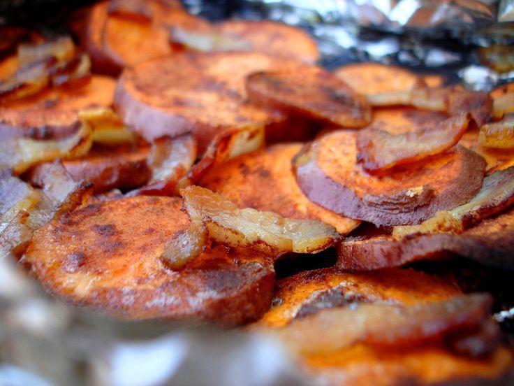 Cinnamon Bacon Backyard Sweet Potatoes   Grilled sweet ...