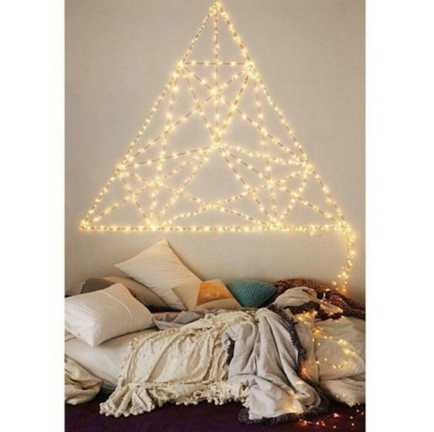 Bedroom String Lights String Lights Pinterest Women Room - Pretty fairy lights bedroom