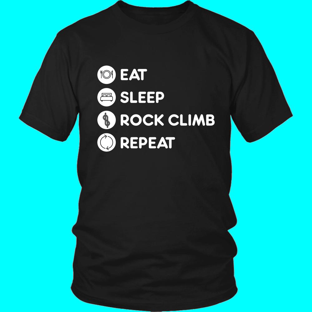 Rock climbing - Eat Sleep Rock climbing Repeat - Climber Hobby Shirt