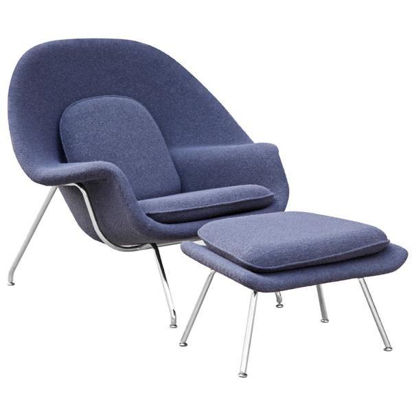 BUY Finemod Imports Modern Woom Chair & Ottoman ONLINE
