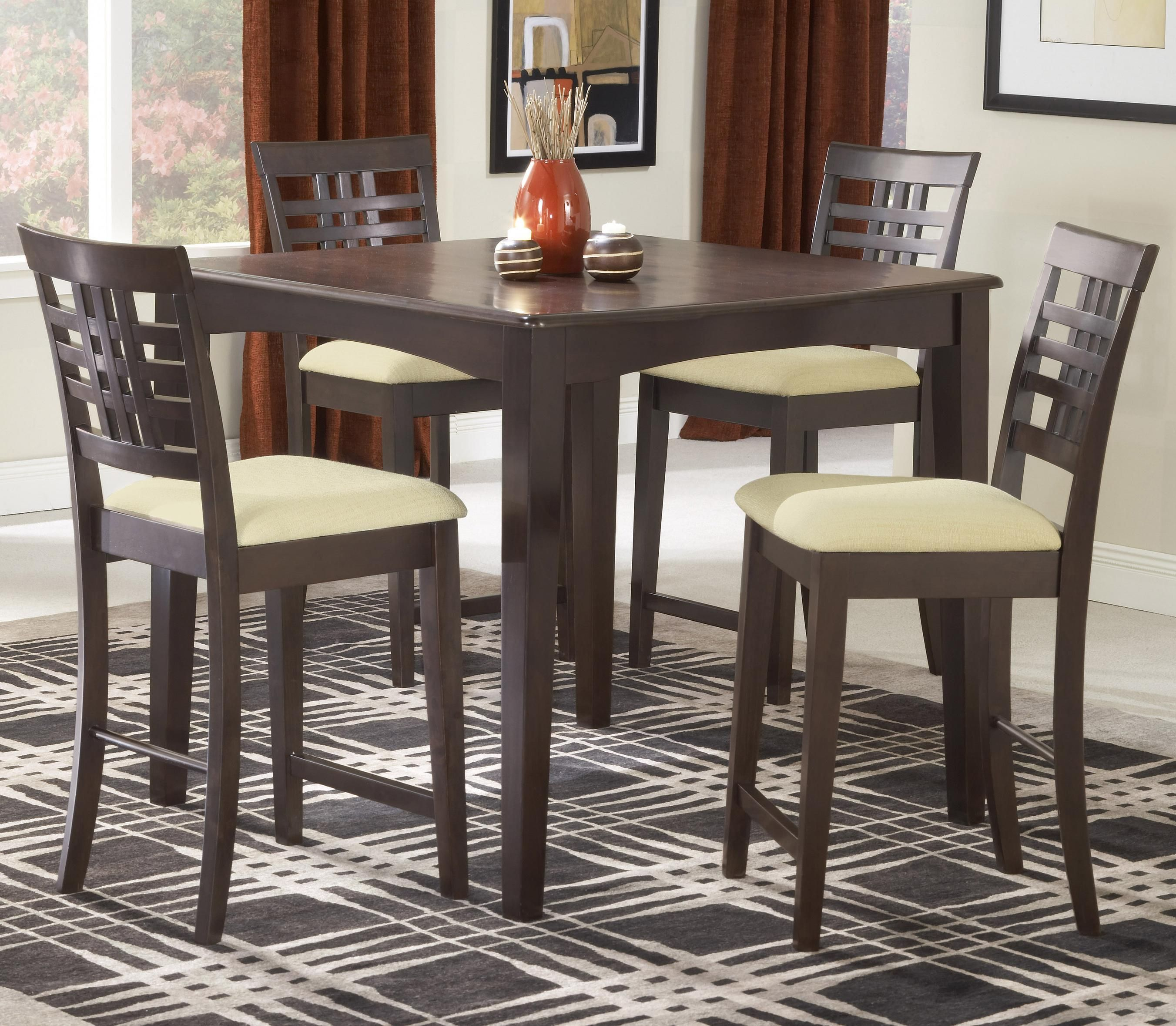 40x40x36 Dining Room Furniture Sets Counter Height Dining Table Set Dining Room Sets