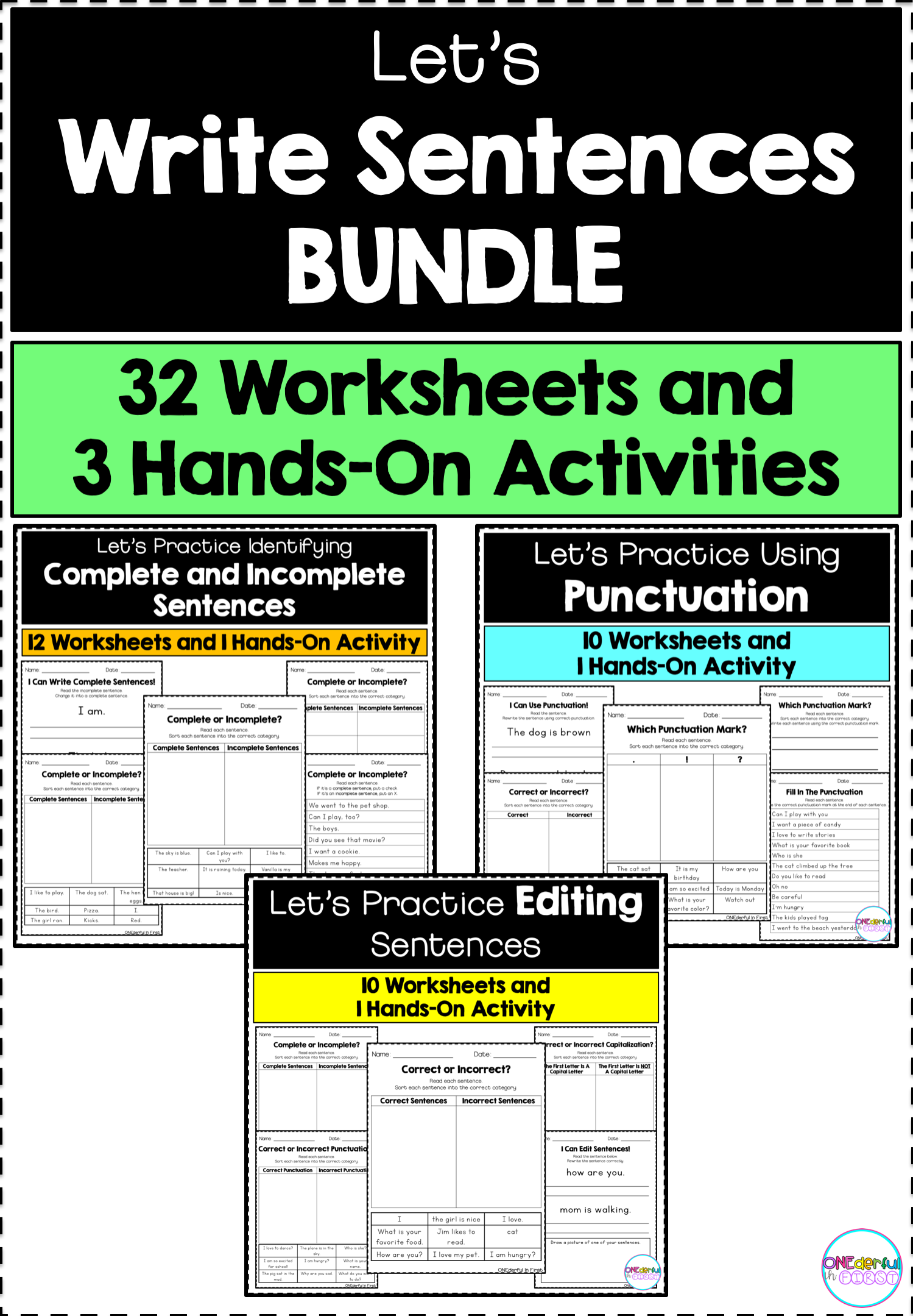 Sentence Writing Bundle